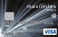 Maximiles Select kredi kartı görseli.