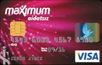 Maximum Aidatsız Kart kredi kartı görseli.