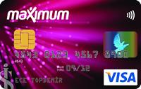 Maximum kredi kartı görseli.