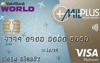 Milplus Platinum kredi kartı görseli.