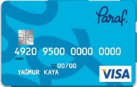 Paraf kredi kartı görseli.
