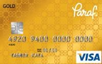 Paraf Gold kredi kartı görseli.