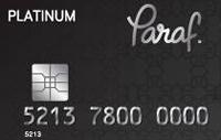 Paraf Platinum kredi kartı görseli.
