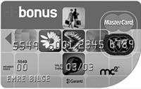 Şeffaf Bonus Premium kredi kartı görseli.