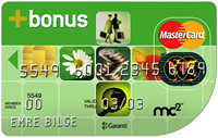 Şeffaf Bonus kredi kartı görseli.