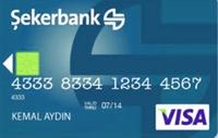 Şeker Kart Gold kredi kartı görseli.