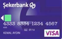 Şeker Kart Platinium kredi kartı görseli.
