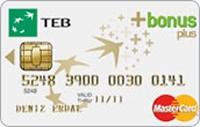 TEB Bonus Plus Card kredi kartı görseli.