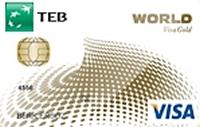 TEB Gold Worldcard kredi kartı görseli.