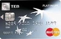 TEB Platinum Card kredi kartı görseli.