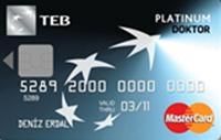 TEB Platinum Doktor Kart kredi kartı görseli.