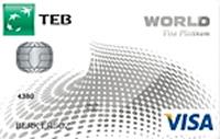 TEB Platinum Worldcard Kredi Kartı Görseli