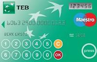 TEB Sade Kart kredi kartı görseli.