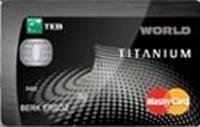 TEB Titanium Worldcard kredi kartı görseli.