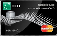 TEB World Businesscard kredi kartı görseli.