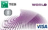TEB Worldcard kredi kartı görseli.