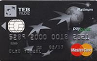 TEB YILDIZ Platinum kredi kartı görseli.