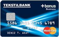 Tekstilbank Bonus Business Card kredi kartı görseli.