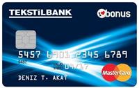 Tekstilbank Bonus Card kredi kartı görseli.