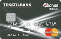 Tekstilbank Bonus Platinum kredi kartı görseli.