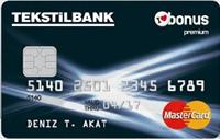 Tekstilbank Bonus Premium kredi kartı görseli.