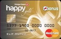 Türkiye Finans Kart Gold kredi kartı görseli.