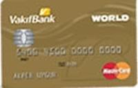 Vakıfbank Worldcard Gold kredi kartı görseli.
