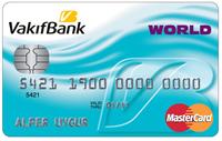 Vakıfbank Worldcard kredi kartı görseli.