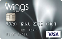 Wings Black kredi kartı görseli.