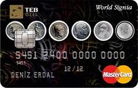 World Signia MasterCard kredi kartı görseli.