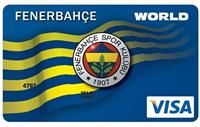 Yapı Kredi Fenerbahçe Worldcard kredi kartı görseli.