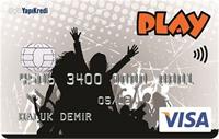 Yapı Kredi Play kredi kartı görseli.