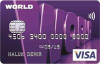 Yapı Kredi Worldcard kredi kartı görseli.