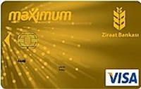 Ziraat Maximum Gold kredi kartı görseli.