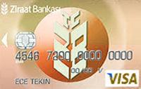 Ziraat Standart Gold kredi kartı görseli.