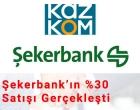 Şekerbank'ın %30'u Satıldı Haber Görseli