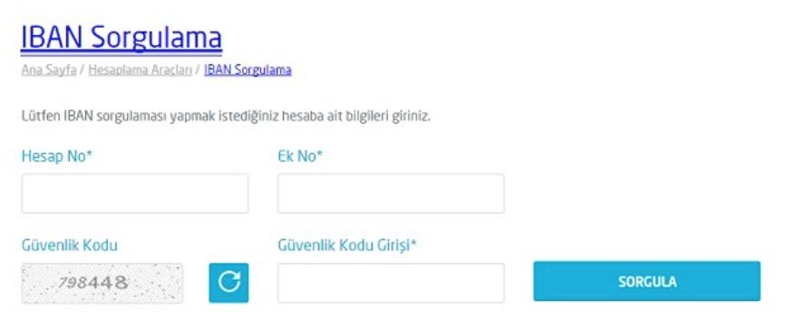 Türkiye Finans IBAN Sorgulama yapması